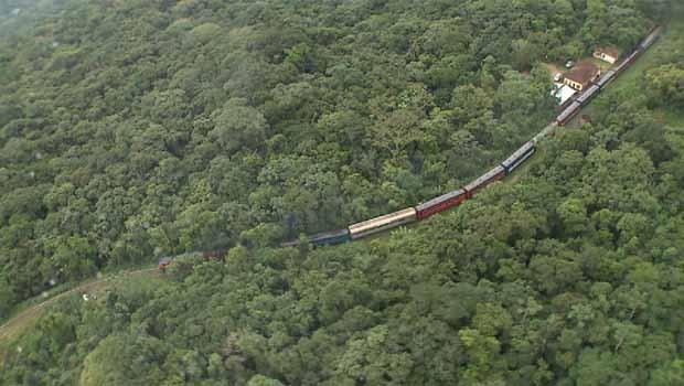 Meu Paraná fez uma viagem na Litorina, trem de luxo da Serra do Mar (Foto: Reprodução/RPC)