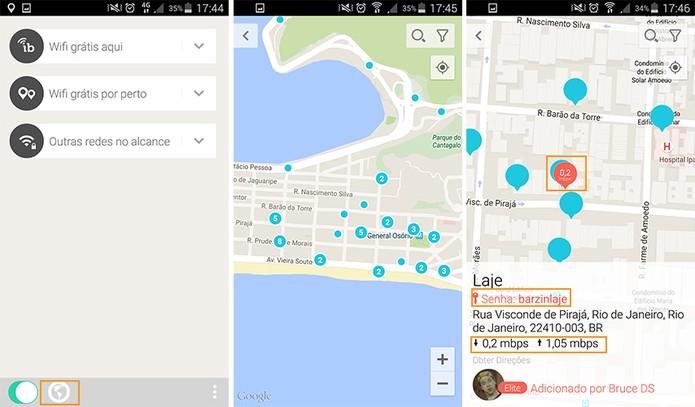Acesso para o mapa geral com redes Wi-Fi (Foto: Reprodução/Barbara Mannara)