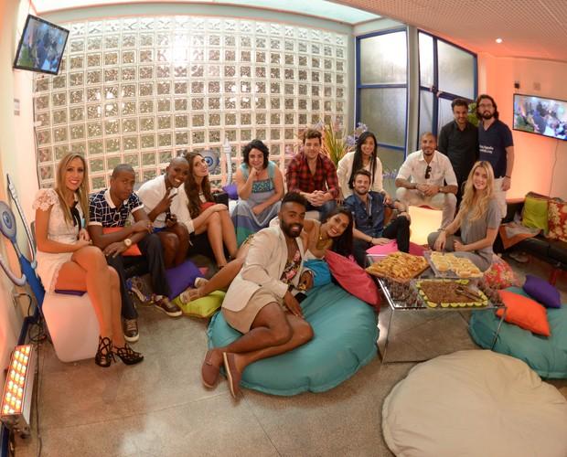 Participantes reunidos (Foto: Camila Serejo / Gshow)