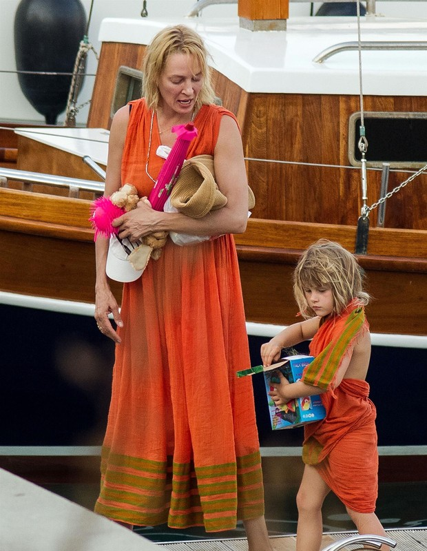 Uma Thurman e Luna  (Foto: The Grosby Group)