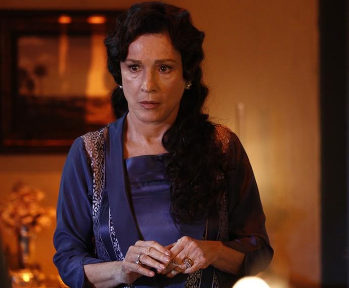 Natália do Vale grava participação como mãe da jovem Anastácia (Foto: Inácio Moraes/Gshow)