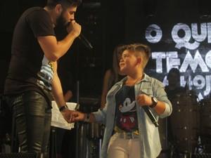 Menino de 8 anos fez homenagem ao ídolo (Foto: Fael Pinoti / Divulgação)
