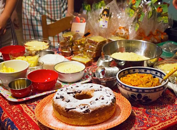 Quitutes e ingredientes do encontro (Foto: Isabella Machado/ Editora Globo)