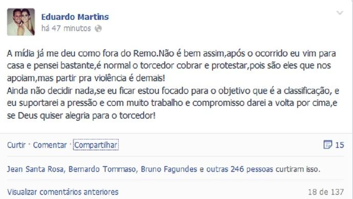 Eduardo Ramos - Remo (Foto: Reprodução/Facebook)