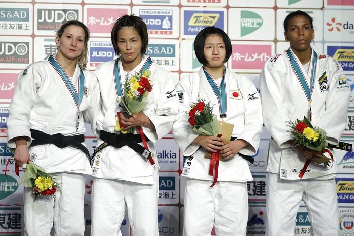 rafaela silva pódio bronze Judo Grand Slam Toquio (Foto: EFE)