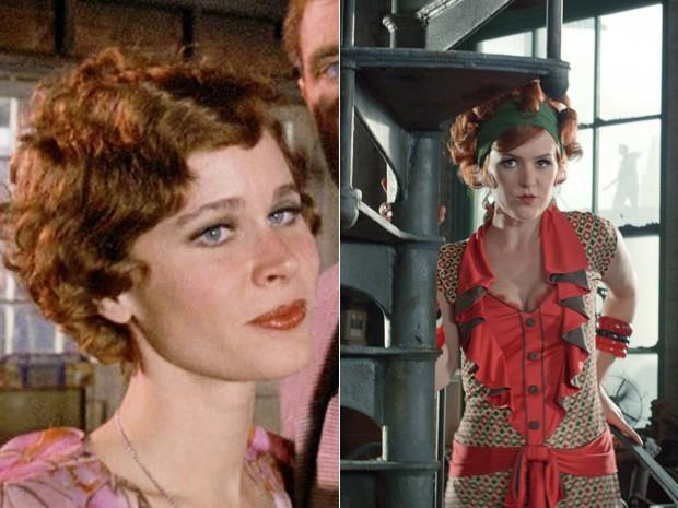 Karen Black, em 1974, e Isla Fisher, em 2013, interpretaram a personagem Myrtle Wilson no cinema (Foto: Divulgação)