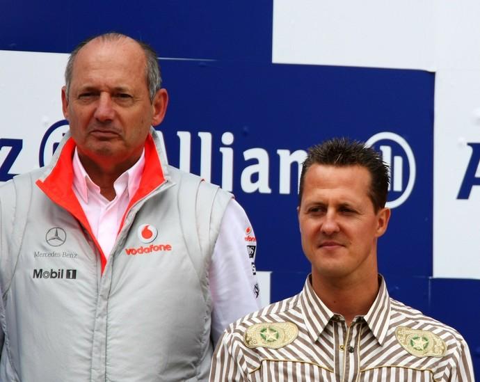 Ron Dennis e Michael Schumacher (Foto: Getty Images)