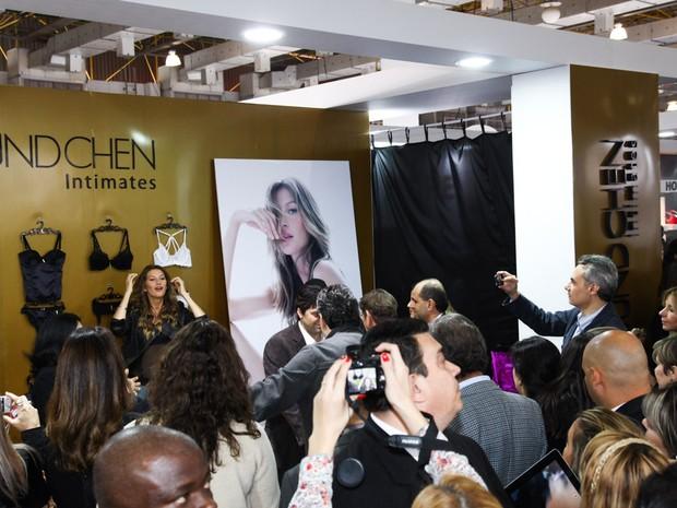 Gisele Bündchen lança coleção de lingerie em São Paulo (Foto: Manuela Scarpa / Foto Rio News)