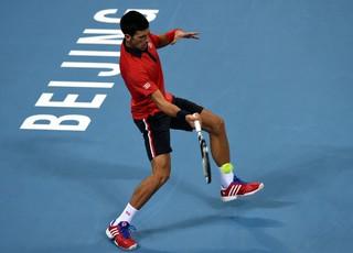 Djokovic na final em Pequim (Foto: AFP PHOTO / GOH CHAI)
