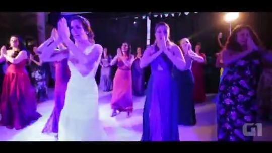 Noivos viralizam com performance indo de 'Despacito' a Pabllo Vittar em festa no DF; veja vídeo