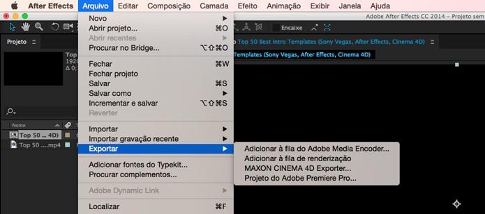 Caminho para adicionar vídeo na fila de renderização (Foto: Reprodução/André Sugai)