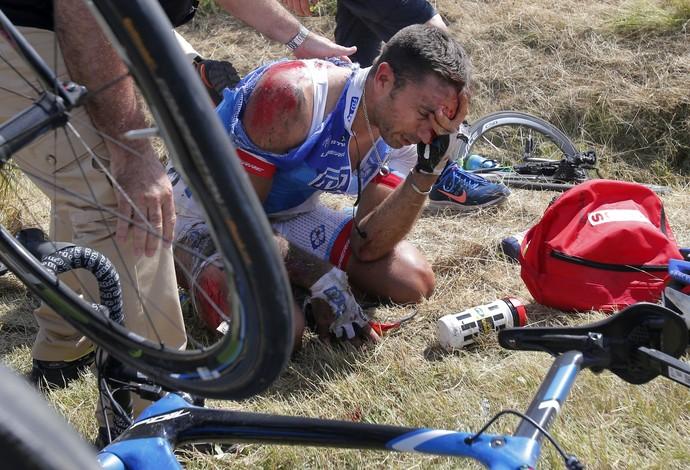 ciclismo acidente Volta da França (Foto: AP)