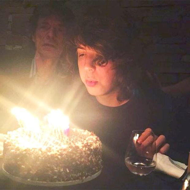 Lucas Jagger celebra 18 anos com o pai, Mick Jagger (Foto: Reprodução/ Instagram)