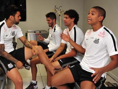 Elenco do Santos se reapresentou nesta quarta-feira (Foto: Ivan Storti/Santos FC)
