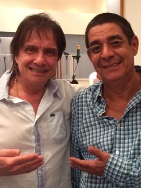 Roberto Carlos e Zeca Pagodinho gravam juntos (Foto: Kassu / Divulgação)