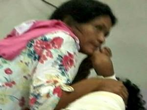 Menina caiu em panela quente e está na UTI em Rio Branco  (Foto: Arquivo pessoal)