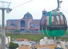 Bondinho é atração turística no Santuário (Filipe Rodrigues / G1)