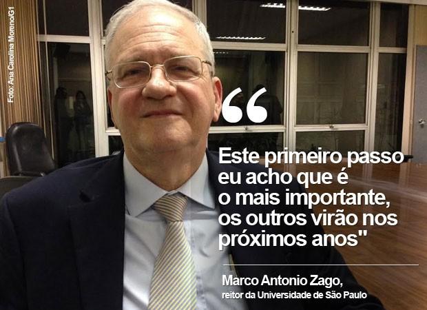 O reitor da USP, Marco Antonio Zago, defendeu adesão parcial da USP ao Enem (Foto: Ana Carolina Moreno/G1)