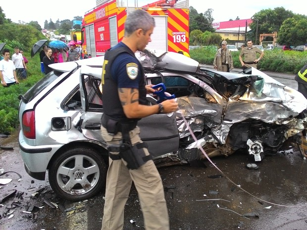 Homem de 32 anos morreu em acidente no Oeste (Foto: Polícia Rodoviária Federal/Divulgação)