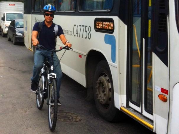etiqueta na bicicleta: globo ecologia (Foto: Divulgação)