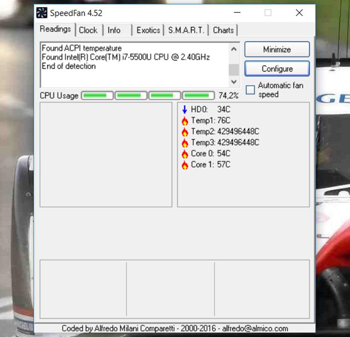 Speedfan possibilita o controle do regime de operação do cooler via Windows (Foto: Reprodução/Filipe Garrett)