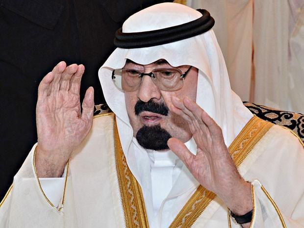 O rei Abdullah, da Arábia Saudita, em foto de 8 de agosto de 2013 (Foto: AFP PHOTO/HO/SPA)
