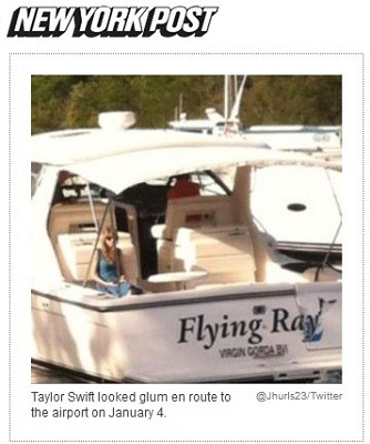 Taylor Swift termina namoro (Foto: Reprodução/New York Post)