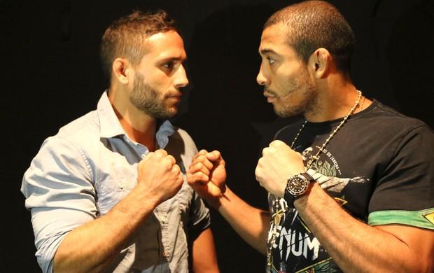 Encarada José Aldo e  Chad Mendes UFC (Foto: Evelyn Rodrigues)