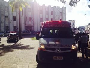 Crime aconteceu em frente ao Comando Geral e o 1º Batalhão da Polícia Militar (Foto: Walter Paparazzo/G1)