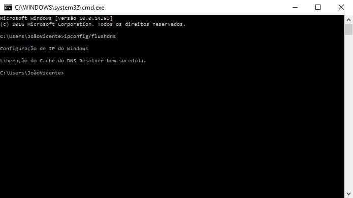 Configurações de DNS podem ser reiniciadas pelo usuário (Foto: Reprodução/Windows)