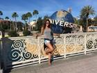 Renata Santos dá adeus a dieta na Disney: 'Me joguei nas gordices'
