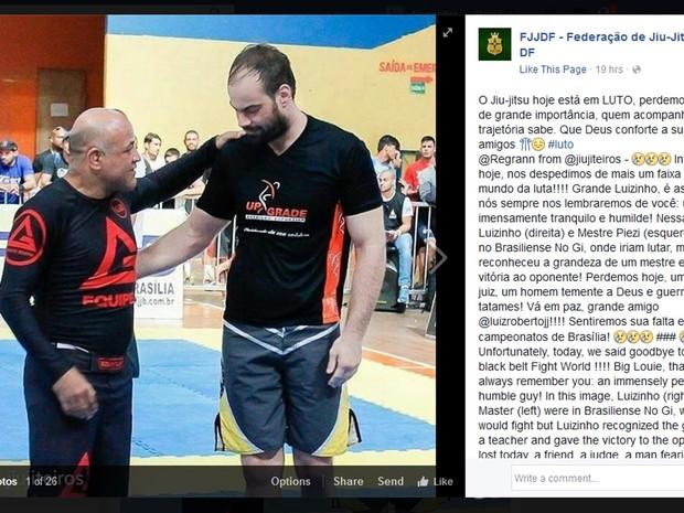 A federação de Jiu-Jitsu do Distrito Federal lamenta o desaparecimento do lutador brasiliense Luiz Roberto Costa (Foto: Facebook/Reprodução)