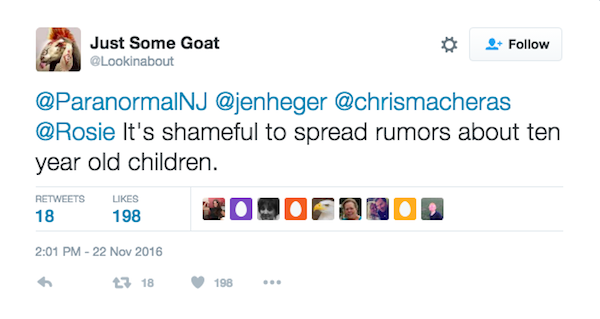 Um fã responde à mensagem de Rosie O'Donnell (Foto: Twitter)
