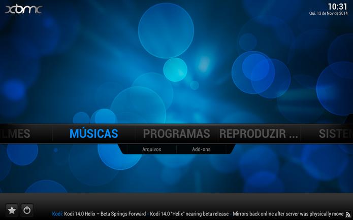 Acessando a opção de Músicas (Foto: Reprodução/André Sugai)