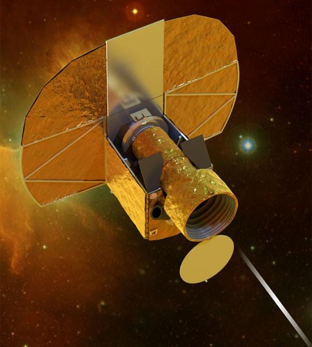 Ilustração mostra como deverá ser o novo satélite europeu Cheops (Foto: ESA/Divulgação)