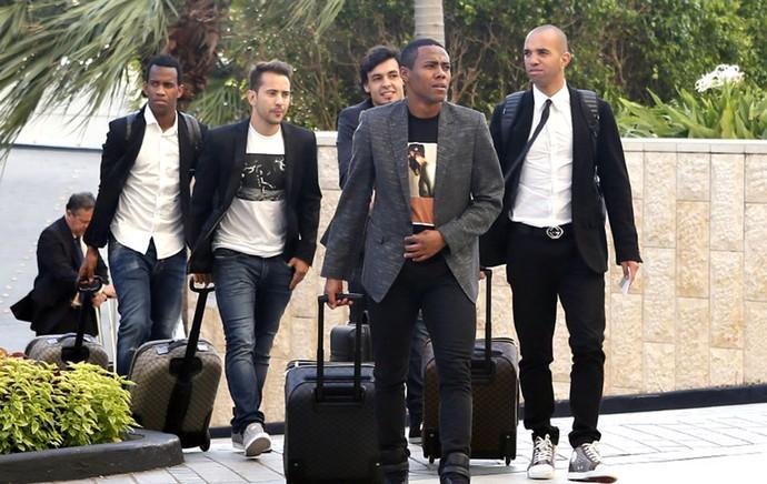 Elias se apresenta a Seleção em Miami (Foto: Divulgação / Site Oficial CBF)