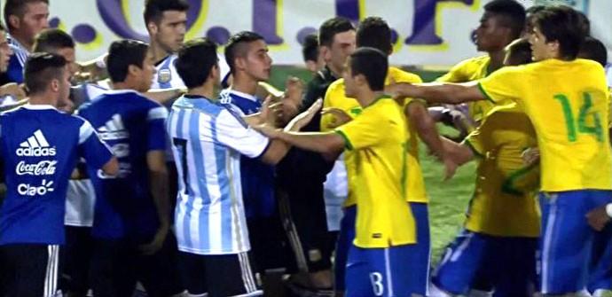 Confusão Brasil e Argentina Sub-20 (Foto  Reprodução) 8d7874ccb55c0