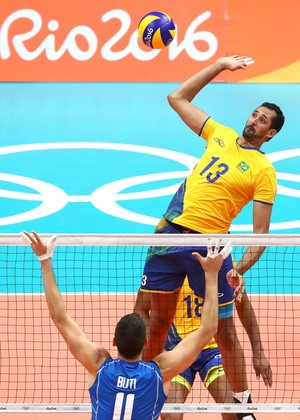 Mauricio Brasil X Itália, Vôlei Masculino (Foto: Agência Reuters)