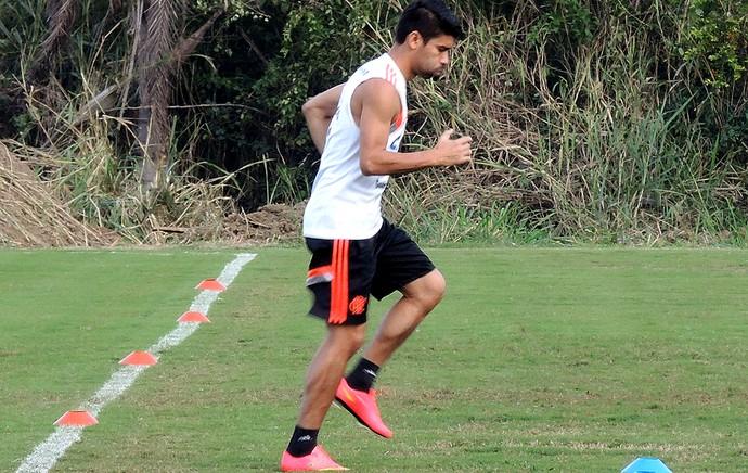 Eduardo da Silva no treino do Flamengo (Foto: Cahê Mota)