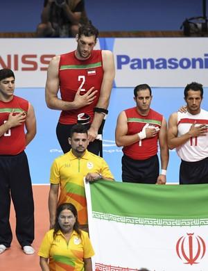 Morteza Mehrzad jogador de vôlei sentado do Irã na paralimpíada (Foto: Getty Images)