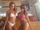 Veridiana Freitas e Babi Rossi desfilam seus corpões em Angra