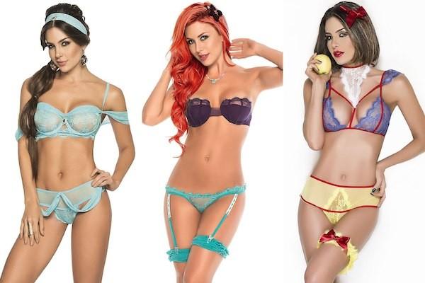 As lingeries polêmicas inspiradas em princesas da Disney (Foto: Reprodução)