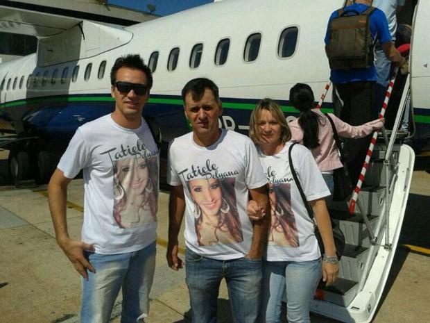 Família de Tatiele está à caminho do Rio de Janeiro para acompanhar o paredão (Foto: Arquivo Pessoal)