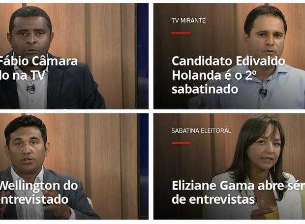 TV Mirante entrevista candidatos à Prefeitura de São Luís (Foto: Reprodução / TV Mirante)