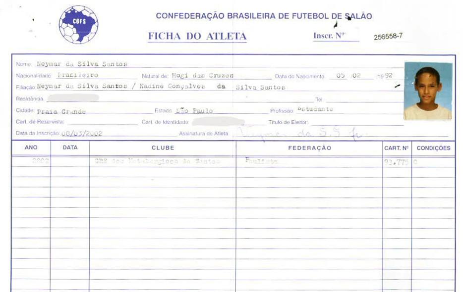 fotos ficha de inscri231227o de jogadores brasileiros que