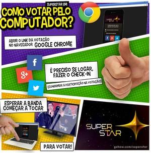 vote pelo computador (Foto: superstar)