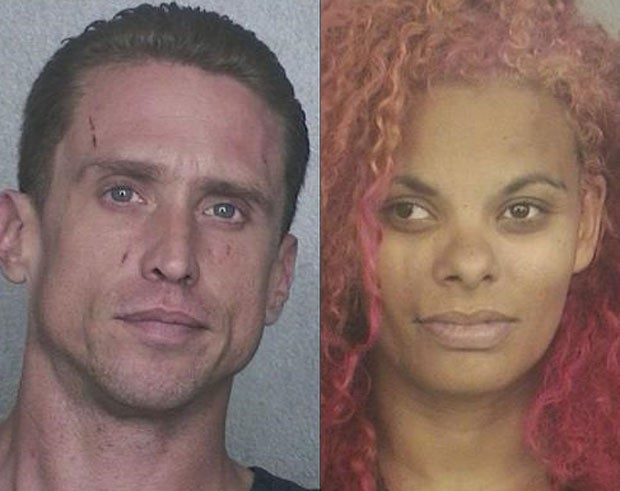 Alan Harrold, de 37 anos, e Crystal Potter, de 33, foram acusados de invasão (Foto: Broward Sheriff's Office/Divulgação)