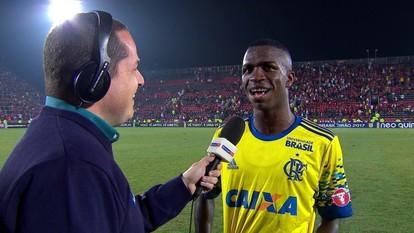Vinícius Júnior fala sobre bom retorno ao time do Flamengo: