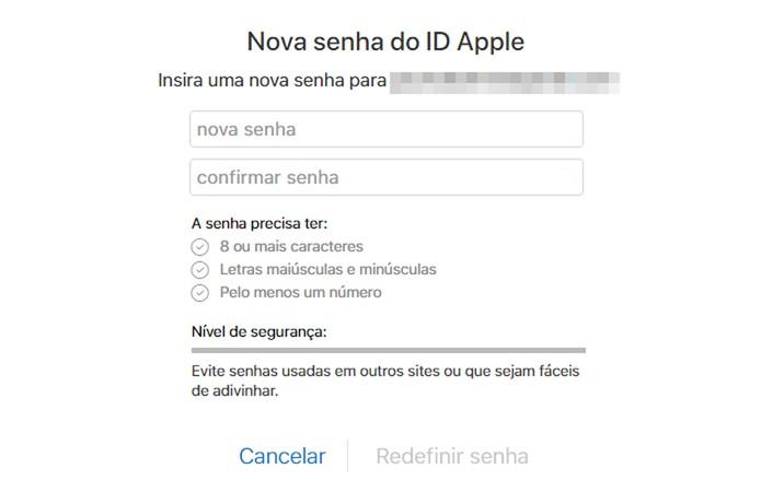 Redefina sua senha do Apple ID (Foto: Reprodução/Paulo Alves)