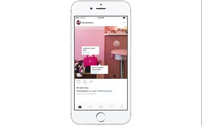 Nova ferramenta do Instagram permite que empresas adicionem tags de produtos